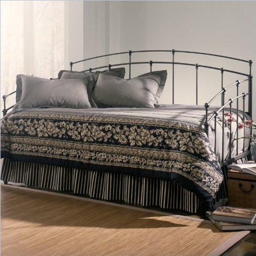 - Fashion Bed Group Fenton Metal Daybed in Black Walnut Finish with Pop-Up Trundle