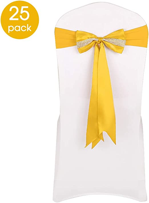 25 Satin Chair Sashes Bows for wedding venue party event decoration FREE SHIP