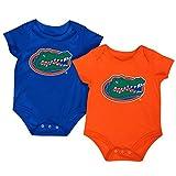 Colosseum NCAA Short Sleeve Bodysuit 2-Pack-Newborn and Infant Sizes-Florida Gators-3-6 Months