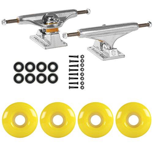 学校ビリーヤギ魅了するスケートボードパッケージIndependent 149 Trucks 51 mmネオンイエローABEC 7 Bearings
