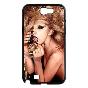 WJHSSB Diy Phone Case Lady Gaga Pattern Hard Case For Samsung Galaxy Note 2 N7100