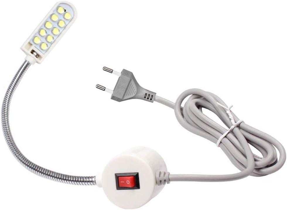Luz de la máquina de coser portátil 10 Luz de trabajo LED Lámpara de cuello de cisne con base de montaje magnética para todas las máquinas de coser Iluminación