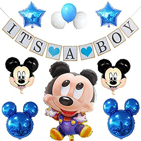 Amazon Com Mickey Mouse Baby Shower Decorations For Boy It S A Boy
