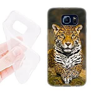 Head Case Designs Adult Female Jaguar Famous Animals Soft Gel Back Case Cover for Samsung Galaxy S6 G920, Galaxy S6 Duos by runtopwell