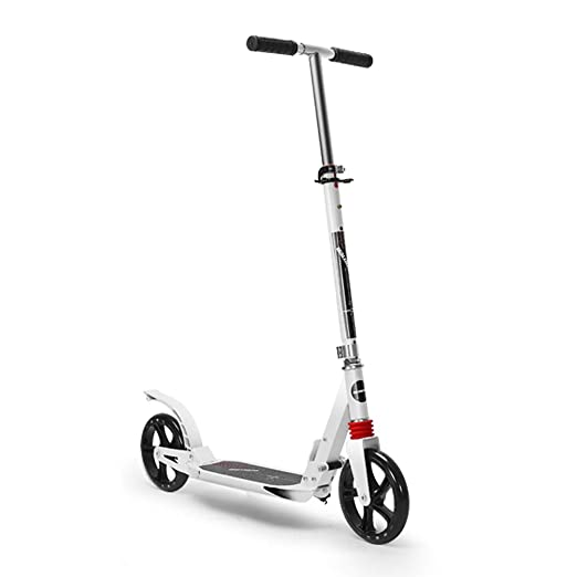 Scooter Patinete Blanco para Adultos con Barra en T ...