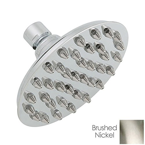Banner 231056 Bathroom, 5 1/2 Inch Vintage Sunflower Design Rainfall Shower Head-Brushed (Nickel Sunflower)