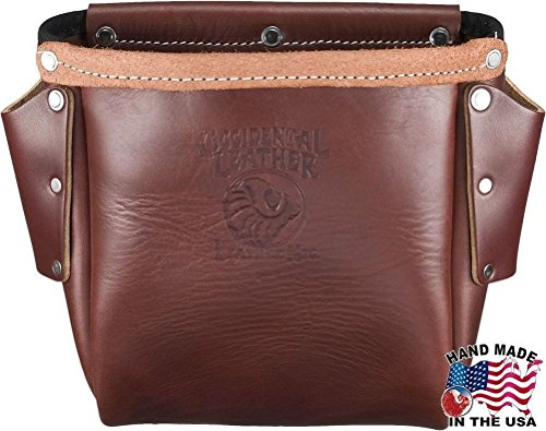 Occidental Leather 9920 Iron Workers Leather Bolt Bag with 2 Bull-Pin - Furniture Hickory Old Leather