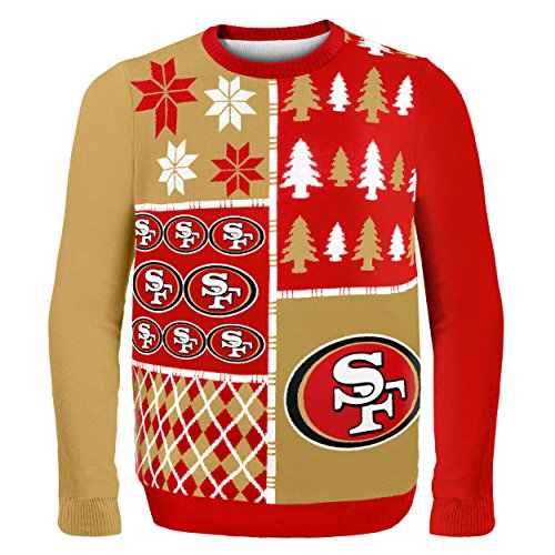 - San Francisco 49ers Busy Block Ugly Sweater Large