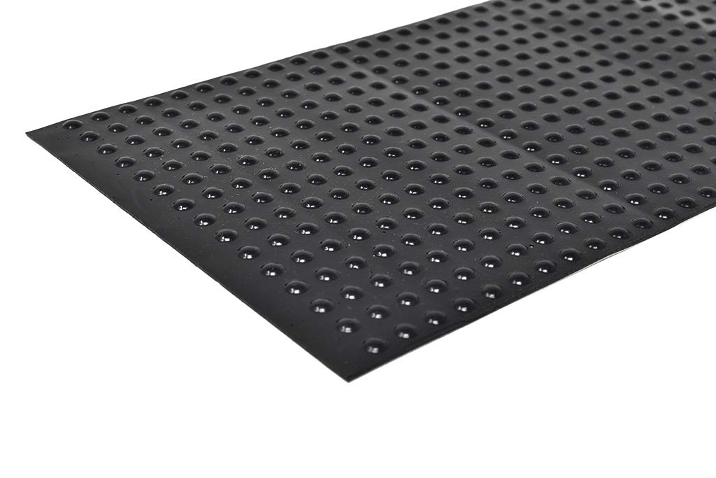 Round Self-Adhesive Rubber Bumper Feet, Stops, and Spacers .250'' inches (6.4 mm) x .079'' inches (2.1 mm) - 450 pack - BS25 Black