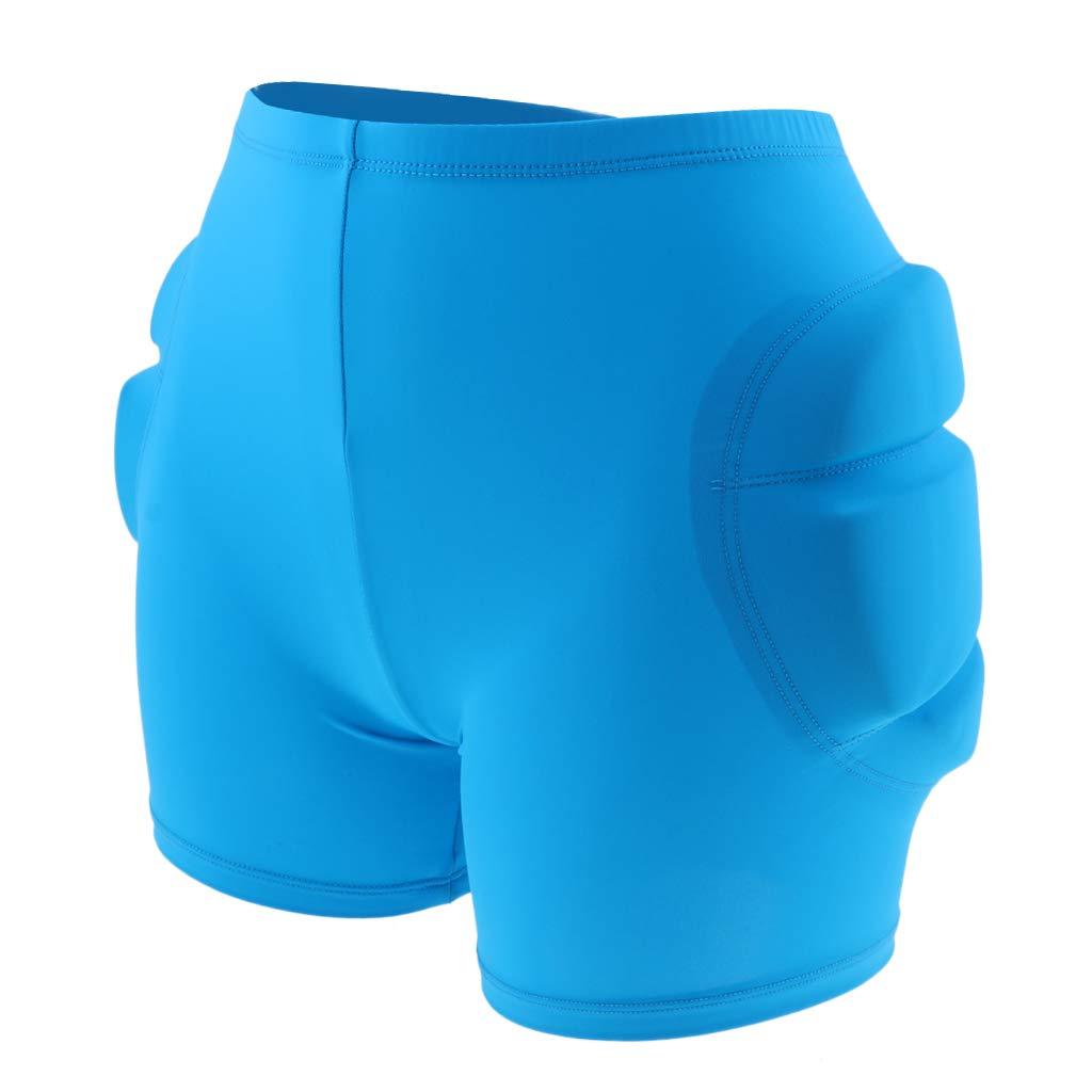 SM SunniMix Drop Resistance Compression Shorts Pants for Women Men Butt Hip Protecting for Ski Skateboard Snowboard Learning Practice - Blue S