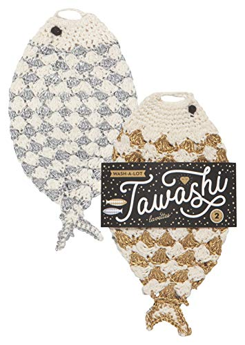 Now Designs 2012018aa Tawashi Dishcloth Scrubbers, Gone Scrubbin