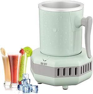 36℉~60℉ Electric Beverage Cup Cooler for Home/Office, Desktop Mini Fridge Quick Cooling Cup Drink Chiller for Beer Juice Milk Coffee