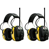 AO Safety WorkTunes AM/FM Radio MP3 Hearing Protecton Earmufffs, 2-Pack
