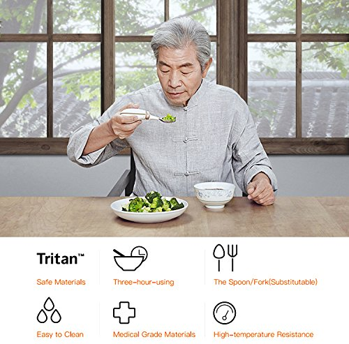 GYENNO Parkinson Spoon For Hand Tremor,Smart Anti-Tremble Steady Spoon Comfortable Safe Integrates Intelligent Control Modules For People with Hand Tremor by LONPOO (Image #1)