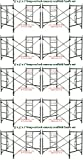 10 Set New Snap-On Lock 5' X 5' X 7' Masonry Scaffolding Frame Sets CBMSCAFFOLD