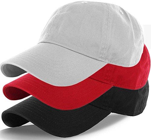 Plain 100% Cotton Hat Men Women Adjustable Baseball Cap (30+ Colors) (Plain Buckle)