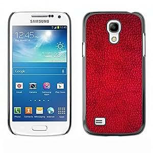 Qstar Arte & diseño plástico duro Fundas Cover Cubre Hard Case Cover para SAMSUNG Galaxy S4 mini VERSION! / i9190 / i9192 ( Red Wallpaper Design Texture Textile Art)
