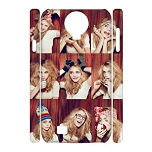 TOSOUL Cara Delevingne Phone 3D Case For Samsung Galaxy S4 i9500 [Pattern-1]