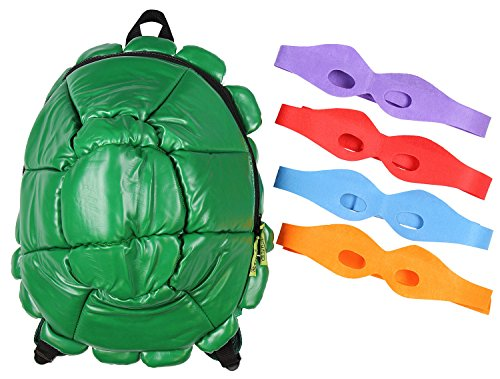 (Teenage Mutant Ninja Turtles - Shell Backpack Green With 4)