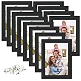 Giftgarden 5x7 Picture Frame Wall Hanging and Table Standing, Black, Pack of 12