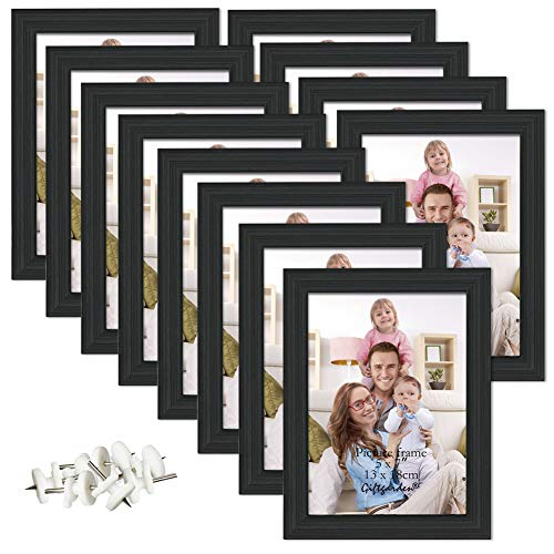 Giftgarden 5x7 Picture Frame for Wall Decor or Tabletop, Black, 12 Pack ()