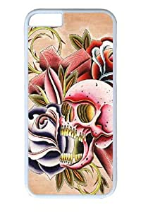 For HTC One M7 Phone Case Cover -Cross Skull Polycarbonate Hard Case Back For HTC One M7 Phone Case Cover White