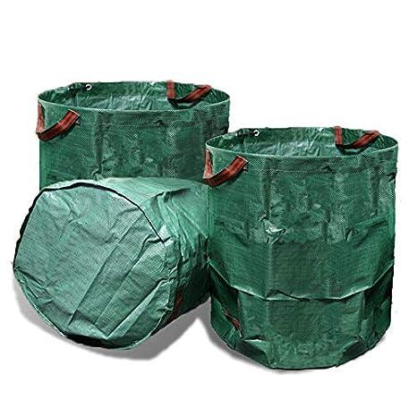 Bolsas grandes de basura para jardín de 272 litros de Vine Rituals Bolsas de basura ligeras reutilizables con asas para macetas, triturado, podado y ...