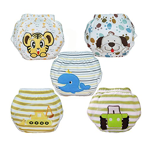 Babyfriend New Cute 100% Cotton Boy's Reusable Toilet Potty Training Pants Breathable Baby Underwear ,Soft and Comfortable