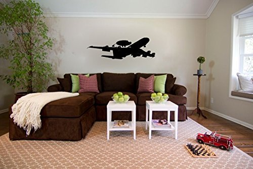 (Boeing E-3 Sentry AWACS US Air Force Airplane Silhouette Vinyl Wall Decal Sticker)
