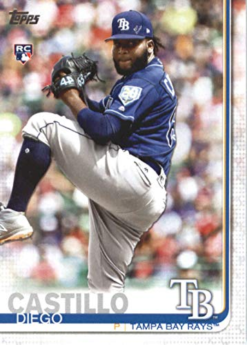 (2019 Topps Series 2 Baseball #650 Diego Castillo RC Rookie Tampa Bay Rays Official MLB Trading Card)
