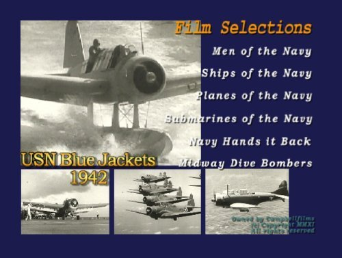 Navy Blue Jacket 1942 Old Films Ships Airplanes PBY Seaplane Subs DVD by Aviators - Movie Online Aviator