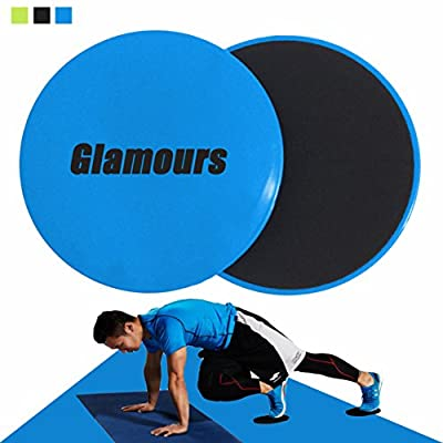 Core Gliding Discs Abdominal Exercise Sliders Equipment for Strength and Stability Training on Carpet and Hardwood Floors by Glamours