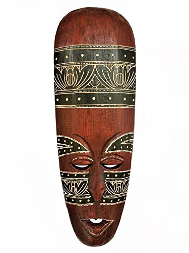 All Seas Imports Gorgeous Unique Hand Chiseled Wood African Style Wall Decor Mask by All Seas Imports