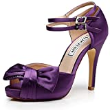 Luxveer Purple Women Wedding Sandals With Bowknot,rs-9807-sandals-bowknot-4 Inch (6, Purple) | amazon.com