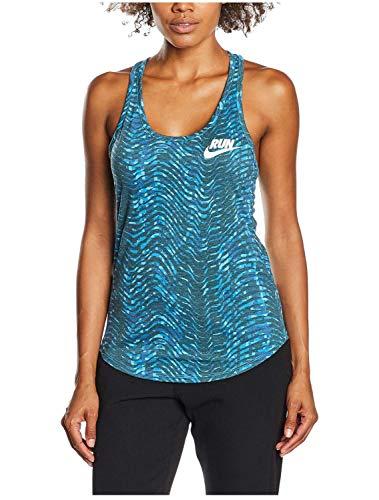 - Nike Women's Dri-Fit Run Flow Running Tank Top-Blue-XL