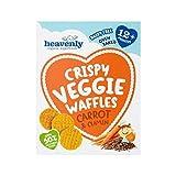 Heavenly Crispy Veggie Waffles Carrot & Cumin 30g - Pack of 6