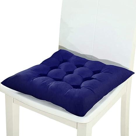 Amazon.com: Cojín de asiento suave cuadrado de invierno para ...