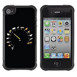 fashion Anti-Shock Defend Case for Apple iPhone 6 4.7 for kids / Cool Animal Speedometer