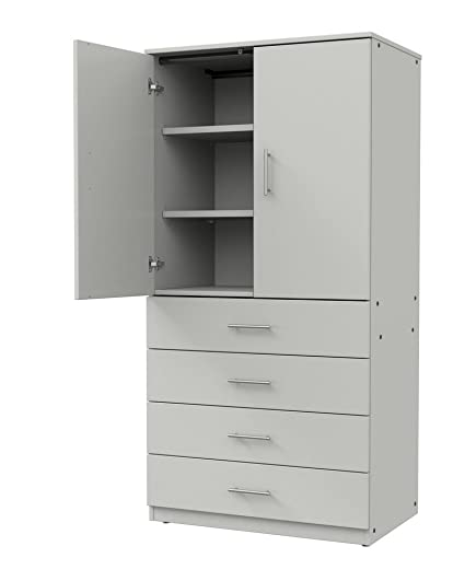 Amazon Marco Group Tall Storage Cabinet With Locking Doors And