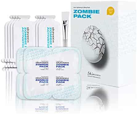 Skin1004 Zombie Pack (set of 8 treatments) - Wash-off Face Mask for Aging Skin, Fine Lines / Wrinkles, Enlarged Pores, Dryness, Lifting and Hydrating