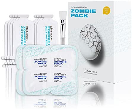 SKIN1004 Zombie Pack (set of 8 treatments) - Wash-off Face Mask for Aging Skin, Fine Lines/Wrinkles, Enlarged Pores, Dryness, Lifting and Hydrating