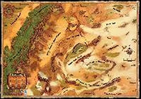 Athas World Map.Amazon Com Dark Sun Campaign Map Toys Games