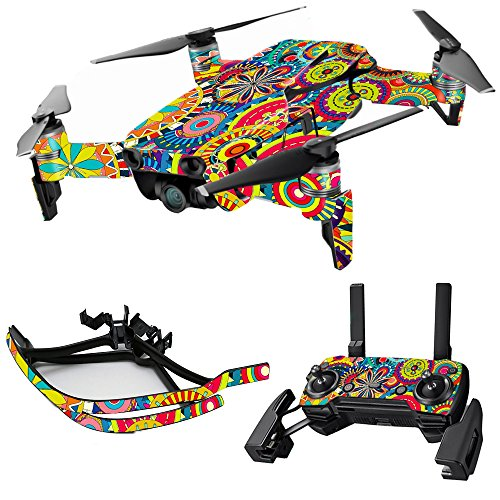 MightySkins Skin for DJI Max Coverage – Flower Wheels | Protective, Durable, and Unique Vinyl Decal wrap Cover | Easy to Apply, Remove, and Change Styles | Made in The USA Review