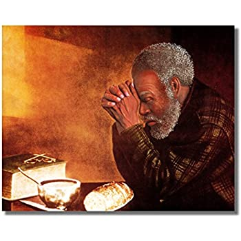 Amazon Com African American Black Man Praying At Dinner