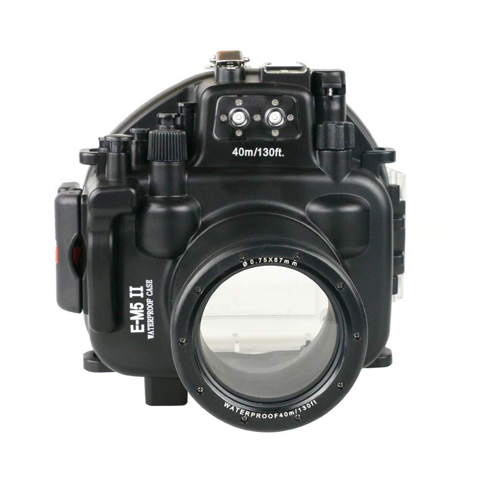 Olympus EM5 II 12-50mmレンズ防水水中カメラハウジングケース用海のカエル   B07QGTFBPW