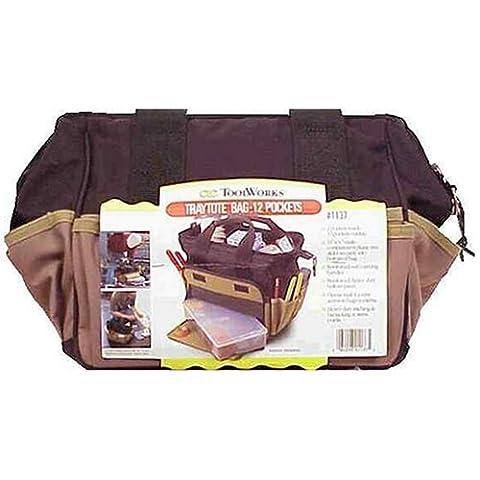 Custom LeatherCraft 1163 31 Pocket - 18-Inch Megamouth Tote Bag