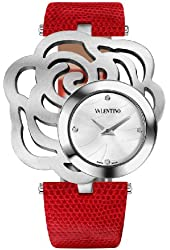 Valentino Women's V55MBQ9901S800 Rosier Stainless Steel Rose Red Leather Watch