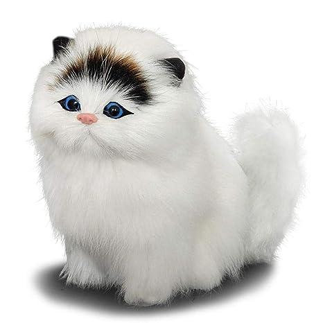 Juguete de peluche niño simulación animal Gato modelo Ladrido Jugar Casa Juguetes
