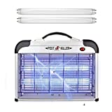 Micnaron Portable Electric Bug Zapper with 2-Pack Free UV Lamp Bulbs, Pest Repeller Control-Strongest Indoor 2800 V 6000ft² UV Lamp Flying Fly Insect Killer Mosquitoes