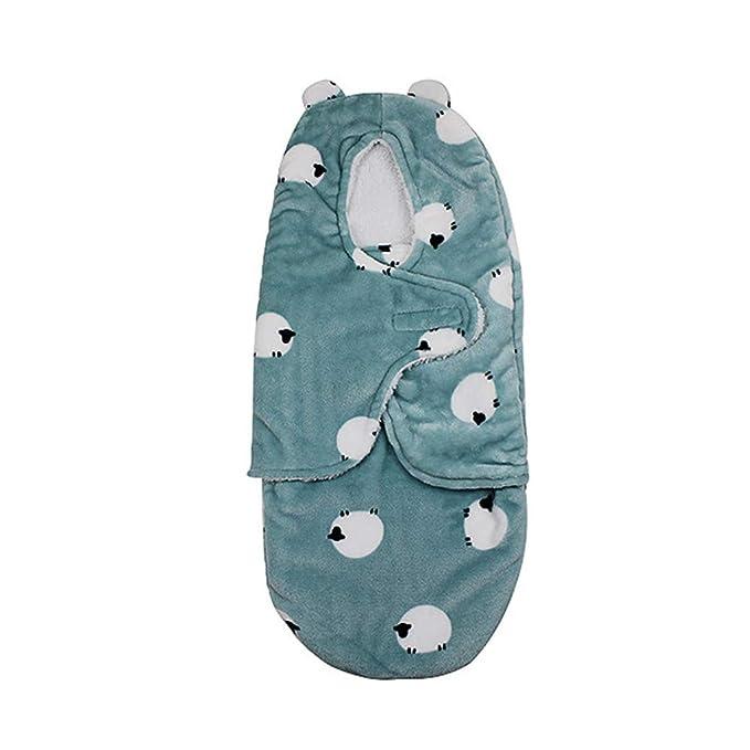 Mitlfuny Saco de Dormir para Bebé Niños Invierno Cálido Manto Recién Nacido Franela Forro Polar Velcro